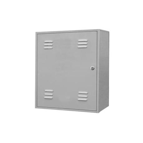 Metal gas meter box